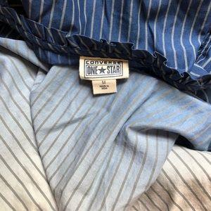 Converse Dresses - CONVERSE Blue Stripe Ombré Dress Tie Back Medium